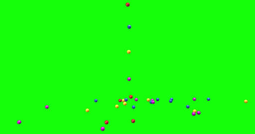 spheres colorful pool balls pit colorful glass spheres falling pool balls falling glass falling Animation