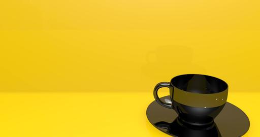 cup black coffee black tea black cup porcelain coffee shop porcelain tea porcelain cup breakfast Animation