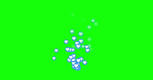 Emoji heart love social love media love heart social icon media icon heart green screen social green Animation