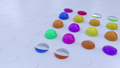Abstract Background With Colorful Rotating Hemispheres CG動画