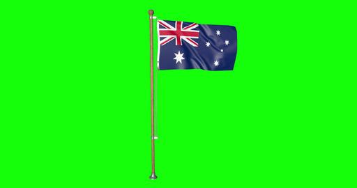 flag australian pole australian Australia australian flag waving pole waving Australia waving flag Animation
