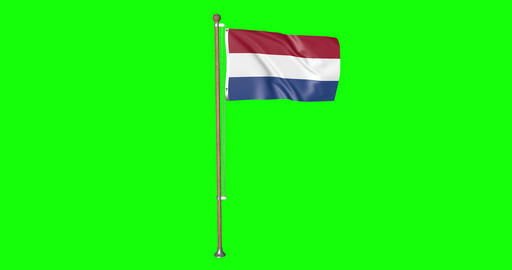 flag Holland pole Holland Netherlands Holland flag waving pole waving Netherlands waving flag green Animation