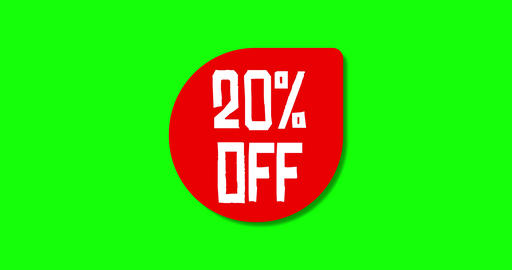 Set offer off discount off price offer special discount special price special offer green screen Animation