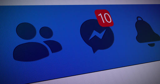 facebook network social network message network facebook counter social counter message counter Animation