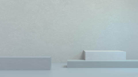 3D Animation of abstract podium pale blue composition. Room for your text and products. Great for CG動画