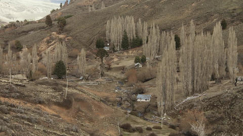 Village in the Andes Mountains, Patagonia, Argentina, South America Live Action