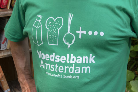 Advertising T-Shirt Voedselbank Amsterdam The Netherlands Fotografía