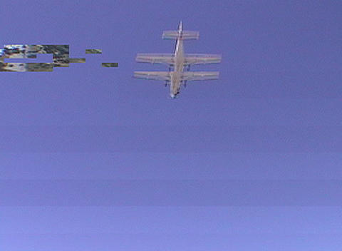 A skydiver jumps from an airplane Stock Video Footage