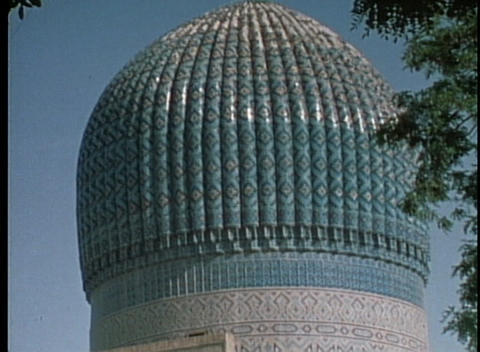 Bibi Khanum mosque in Samarkand Footage