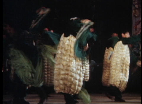 Children perform in an out of date talent show dressed as... Stock Video Footage