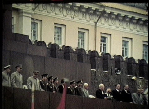 A Communist rally on the streets of Moscow in the former... Stock Video Footage