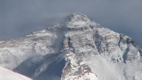 Close up of the North Face of Mt. Everest Stock Video Footage