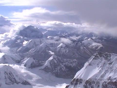 Near the summit of Everest - beautiful scenic shot Stock Video Footage