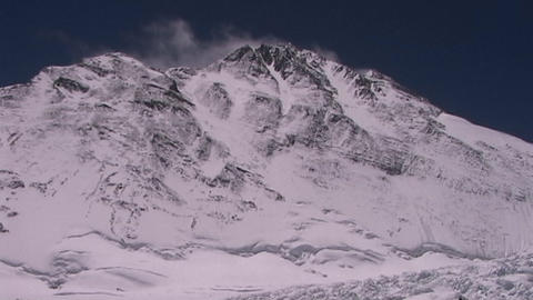 Mt. Everest pinnacles with the summit hiding in the... Stock Video Footage