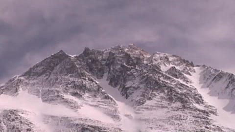 Time lapse of Mt. Everest - Everest pinnacles Stock Video Footage