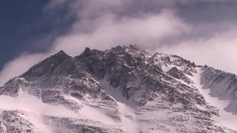 Time lapse of Mt. Everest - Everest pinnacles Footage