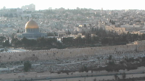 Al-Aqsa Mosque - the Dome of the Rock as seen from Mount... Stock Video Footage