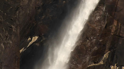 The power and energy of this waterfall is awe-inspiring Stock Video Footage