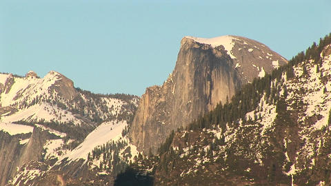 Long-shot of Half Dome in Yosemite National Park Stock Video Footage