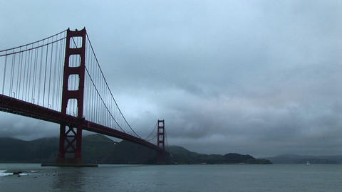 Footage of both the world-famous Golden Gate Bridge and... Stock Video Footage
