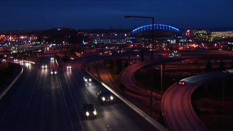 Traffic drives on Seattle's freeways Footage