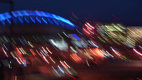A hand-held camera zooms in and out, creating abstract,... Stock Video Footage