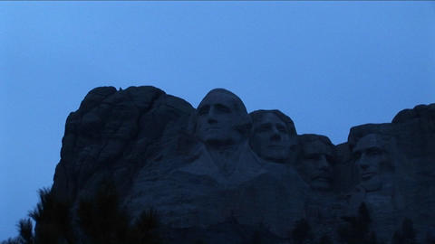 Mt. Rushmore in low light Footage