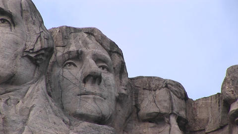 Thomas Jefferson is featured in this close-up of Mt.... Stock Video Footage