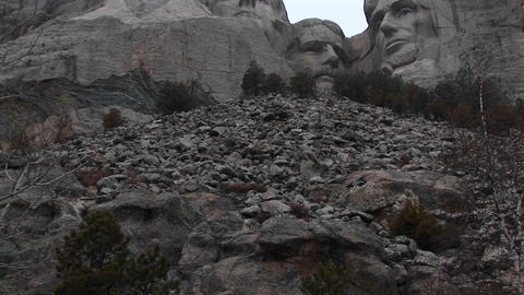 Pan-up of Mount Rushmore Stock Video Footage