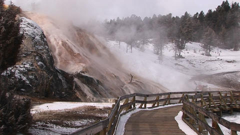 Medium-shot of steam rising from a geothermal area in... Stock Video Footage