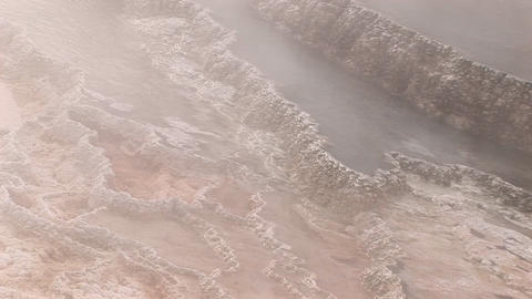 Close-up of steam rising from a geothermal area in Yellowstone National Park Footage