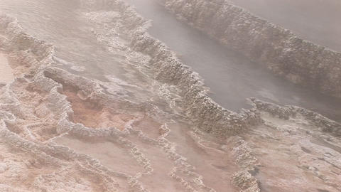 Close-up of steam rising from a geothermal area in... Stock Video Footage