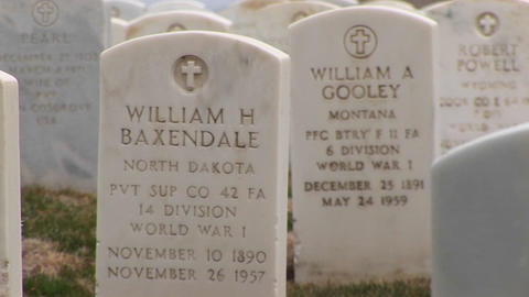 A close-up tracking shot of the inscriptions for both men... Stock Video Footage