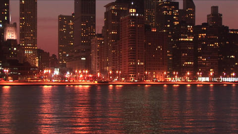 Skyscrapers shine on the Chicago skyline Stock Video Footage