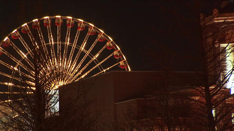 Creative footage zooms in and out on the Navy Pier and... Stock Video Footage