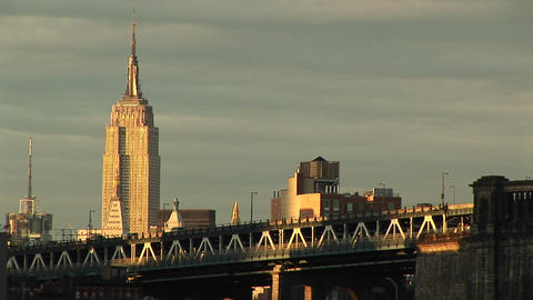 The Empire State Building rises above the surrounding... Stock Video Footage