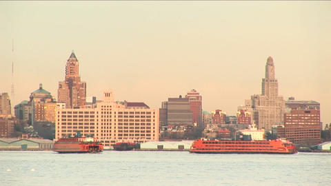 sightseeing boats pass each other enroute to their... Stock Video Footage