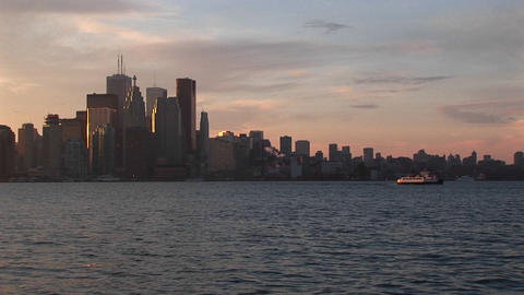 Waterfront perspective of the Toronto skyline during the... Stock Video Footage