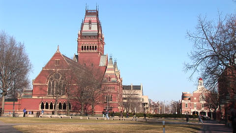 A look at one of the churches on the Harvard campus Stock Video Footage