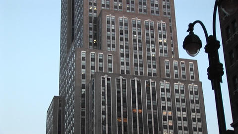 The Empire State Building is a spectacular sight in the... Stock Video Footage