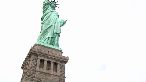 A look up at the Statue of Liberty Footage