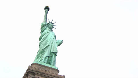 A look up at the Statue of Liberty Stock Video Footage