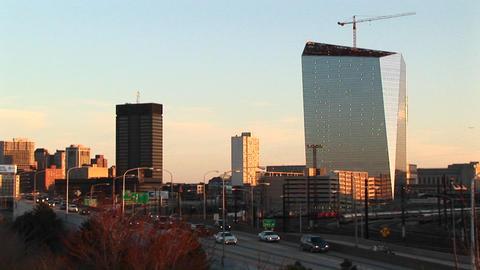 Pan left across the Philadelphia skyline Stock Video Footage