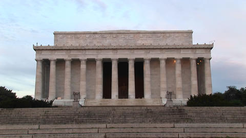 A medium shot of Lincoln Monument in Washington, DC Footage