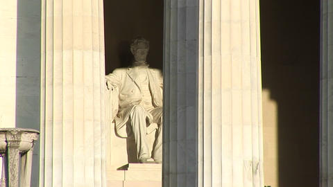 Close-up of Lincoln Memorial in Washington, DC shows... Stock Video Footage