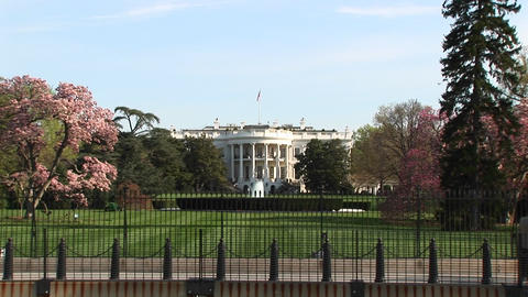 The camera zooms in for a look at the White House in... Stock Video Footage