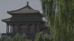 China. Beijing Architecture. Part Of The Forbidden City Live Action