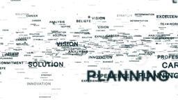 Motivational words flying, white Animation