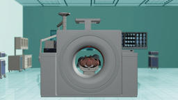 MRI Scan in Hospital Room, static camera Animation