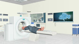 MRI Scanner at Hospital Animation